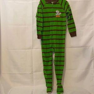 Carter's Raccoon zip up Footie Pajama